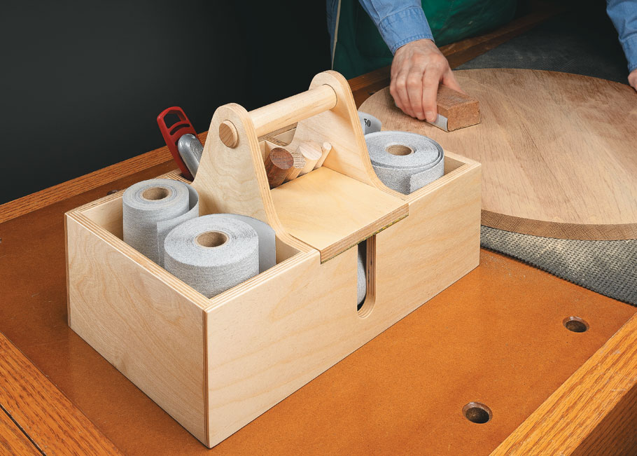 Keep all your sanding supplies within easy reach using this handy tote.