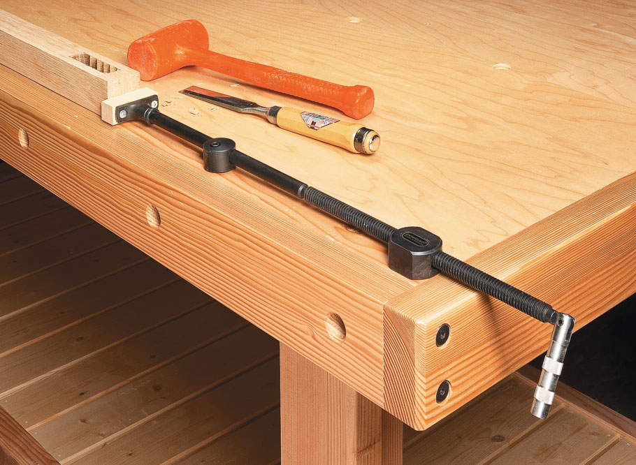 Flat, stable, and strong — you get it all with this unique bench that stands up to any task.
