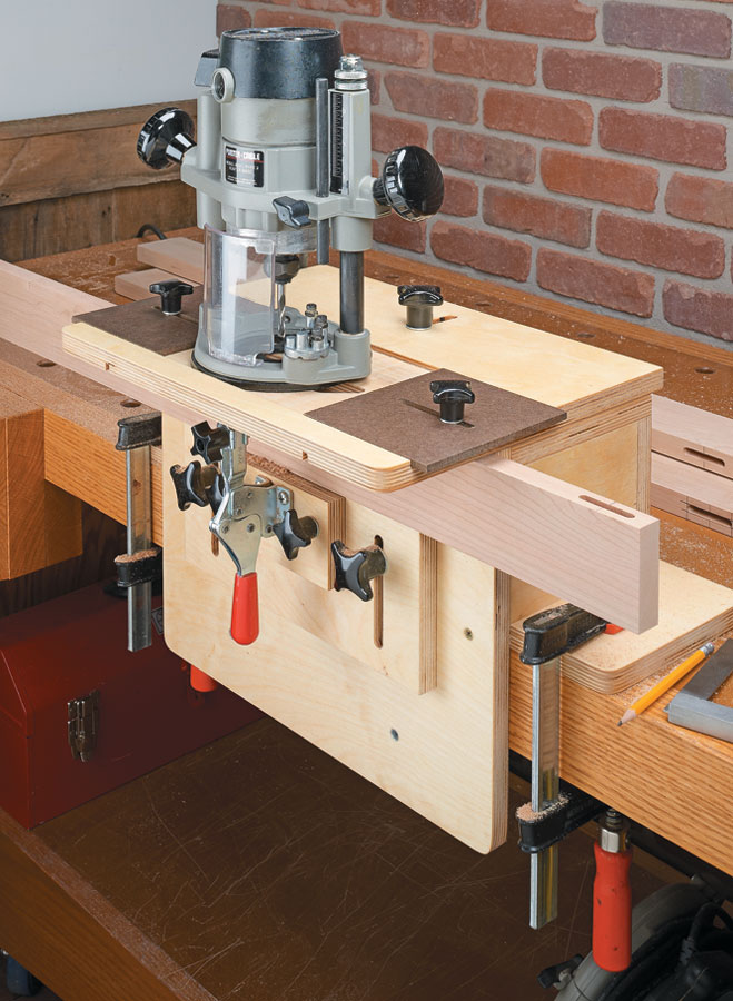 You'll be making mortises in minutes with your hand-held router and this easy-to-build jig.