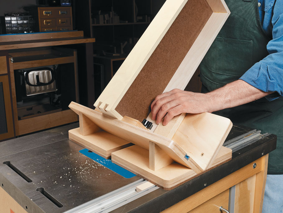 Dovetail keys are a great way to strengthen a miter joint. This jig takes the hassle out of cutting the slots for the keys.