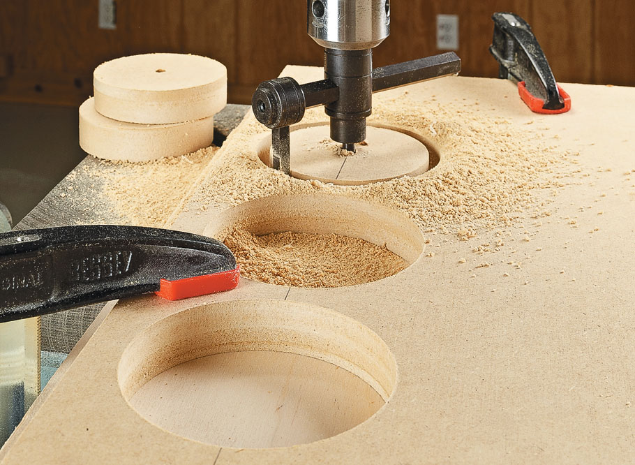Use the power of your drill press to smooth out the rough edges on your project workpieces.