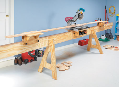 Space-Saving Miter Saw Station