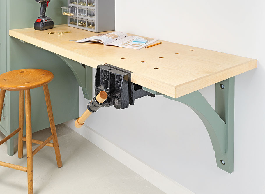 Wall-Hung Workbench | Woodworking Project | Woodsmith Plans