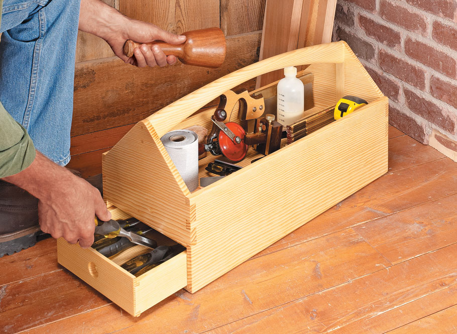 Classic joinery and a unique drawer catch are sure to challenge your skills.