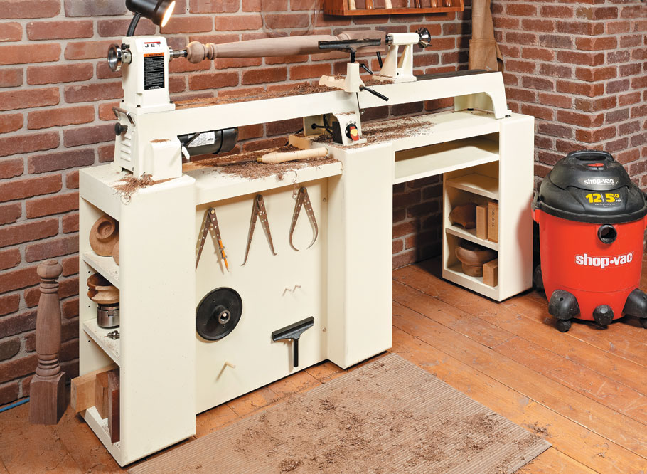 Give your midi-lathe a home with rock-solid support and plenty of storage space.