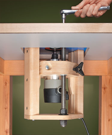 Router Jig: Router Lift