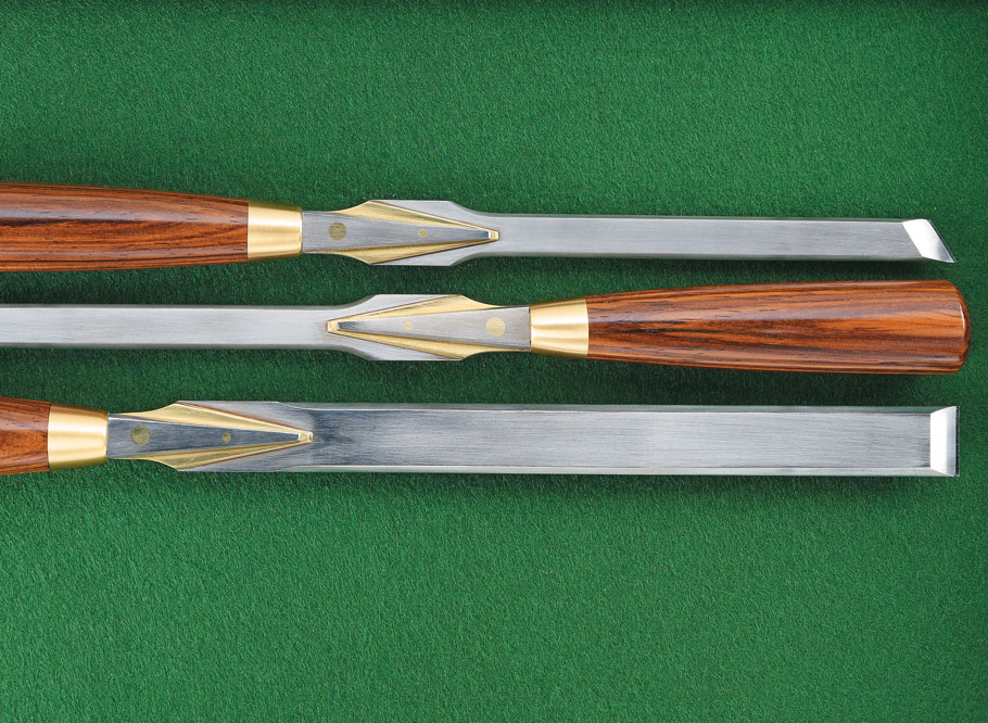 These hand-made, specialty chisels are sure to be a treasured addition to your hand tool collection.