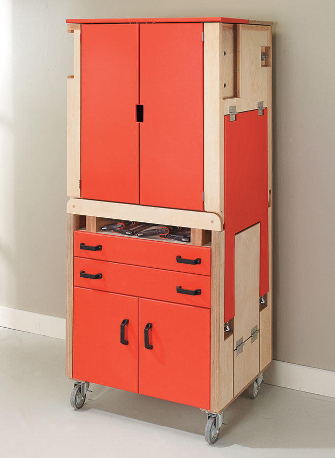 "This ""shop-in-a-box"" combines a full-featured worksurface with lots of tool storage in a compact package."
