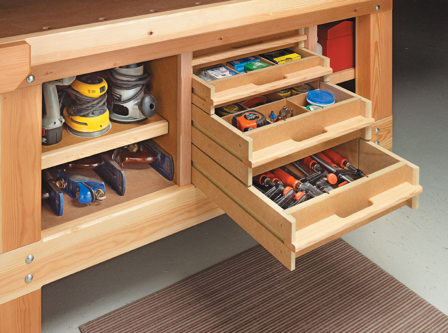 This easy-to-build modular system helps you turn unused space into valuable storage.