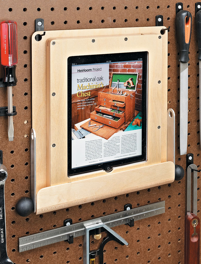 This easy-to-build case and stand protect your tablet computer so you can take it with you to the shop.