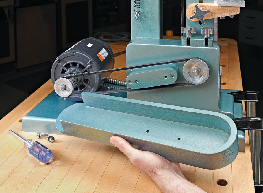 Grinding, sharpening, shaping, and sanding — this easy-to-build machine does it all.