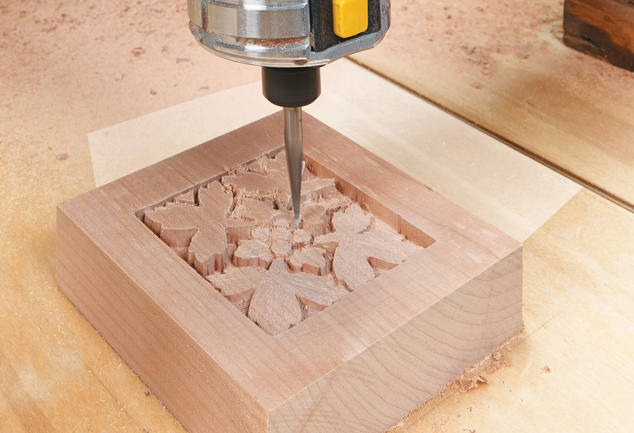 Recreating almost any pattern or carving with your router is easy with this shop-built fixture.