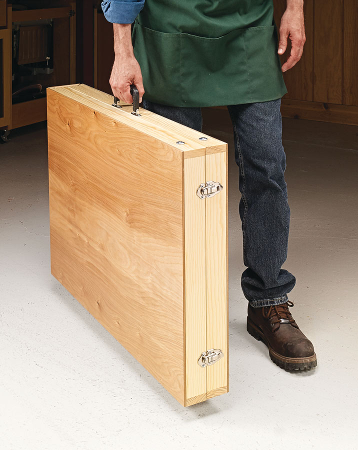 Lightweight and portable, this handy folding table is also tough enough to hold a heavy load.