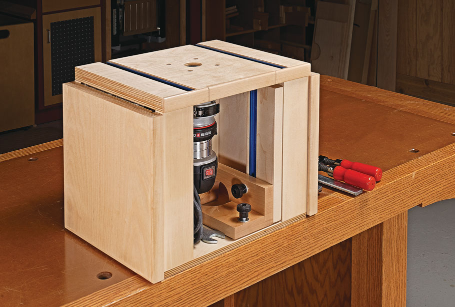 Don't be fooled by its small size. This portable router table packs in a lot of big-time features.