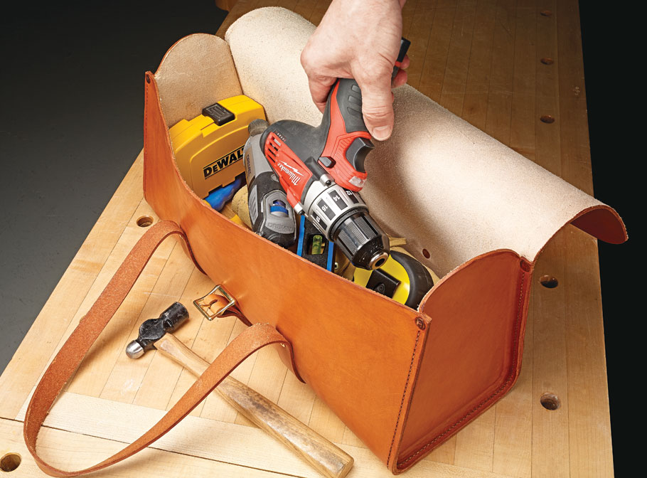 Carry your tools in style with this rugged bag. You can make it in a few days using simple tools and techniques.
