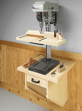Wall-Mounted Drill Press Table