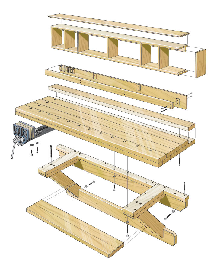 Wall-Mounted Workbench | Woodworking Project | Woodsmith Plans