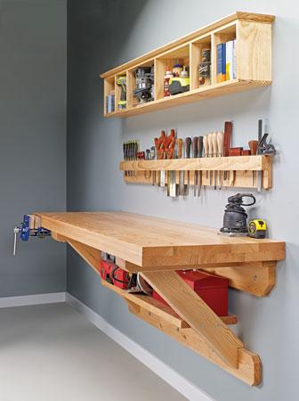 Wall-Mounted Workbench