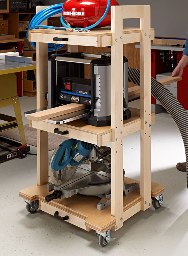 Go vertical with this handy cart to free up valuable floor space in your shop.