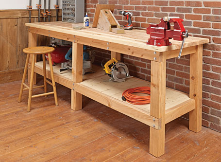 Heavy-Duty Plank Workbench