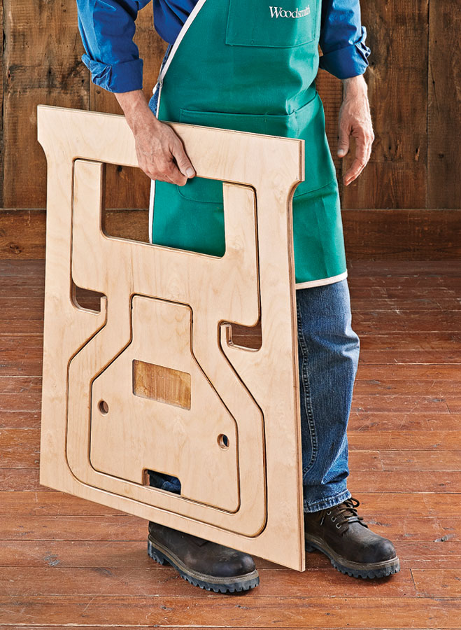 A unique design transforms a single piece of plywood into sturdy, versatile shop helpers.