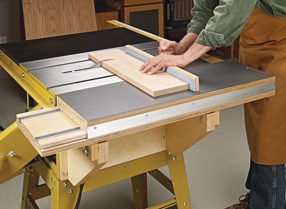 Sliding Saw Table Woodworking Project Woodsmith Plans