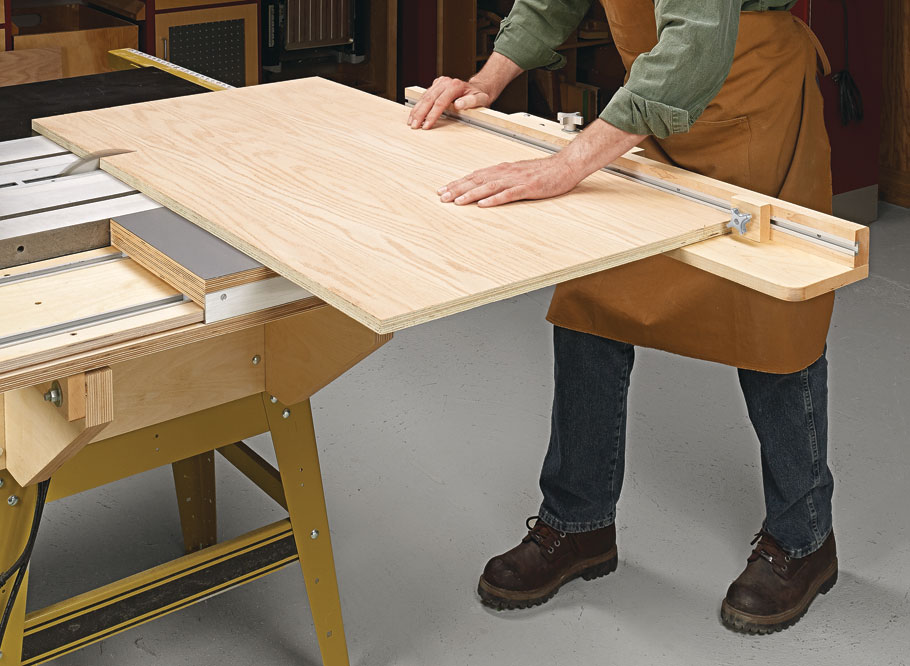 Take the guesswork out of making square cuts on large panels with this must-have table saw add-on.