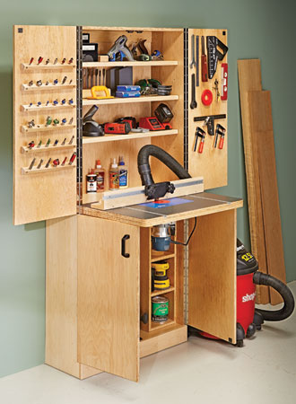 Router Table Wall Cabinet