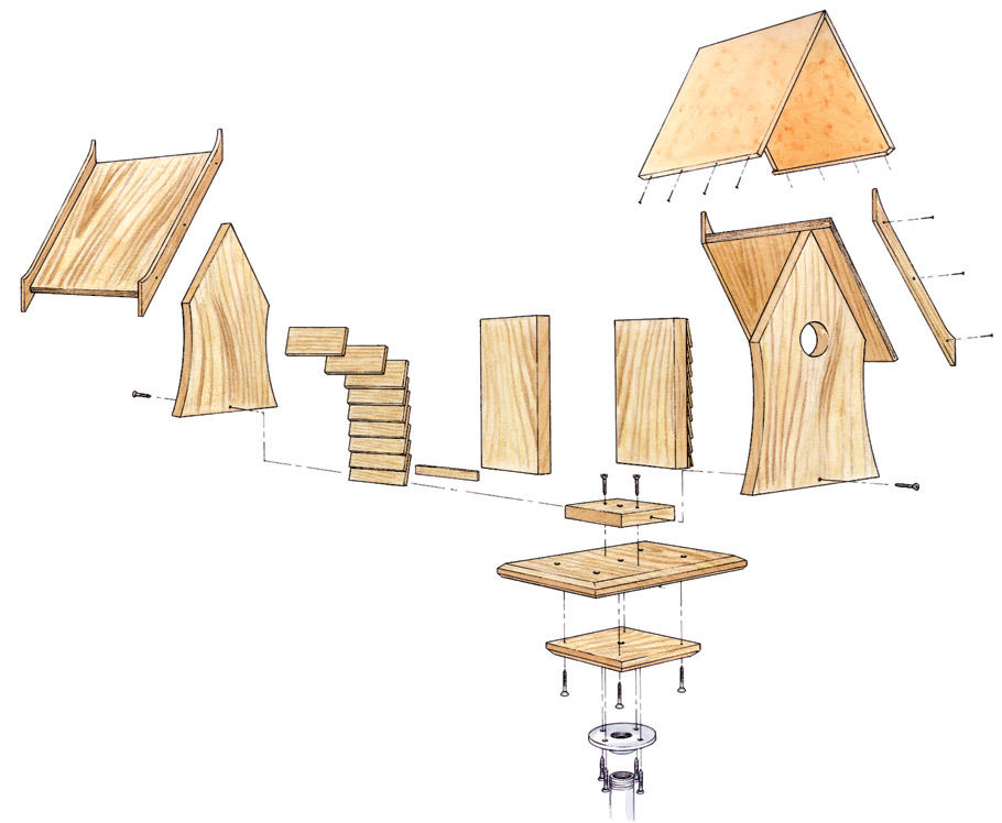 Add a little character to your garden by constructing this easy-to-build birdhouse.