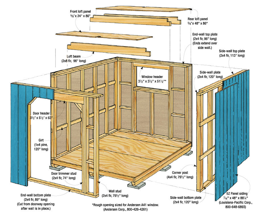 This Tool Storage Shed has plenty of space for everything that won't fit in your garage.