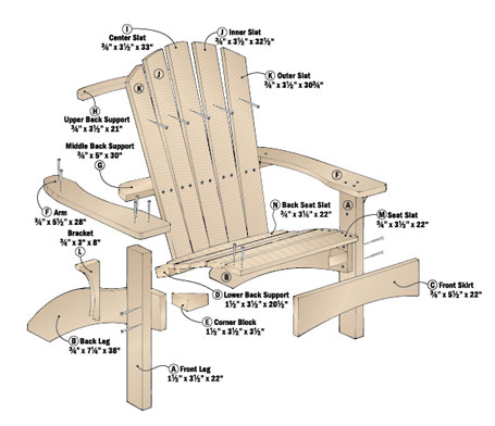 A contoured back and seat make this Adirondack chair a more comfortable version of the summertime classic.