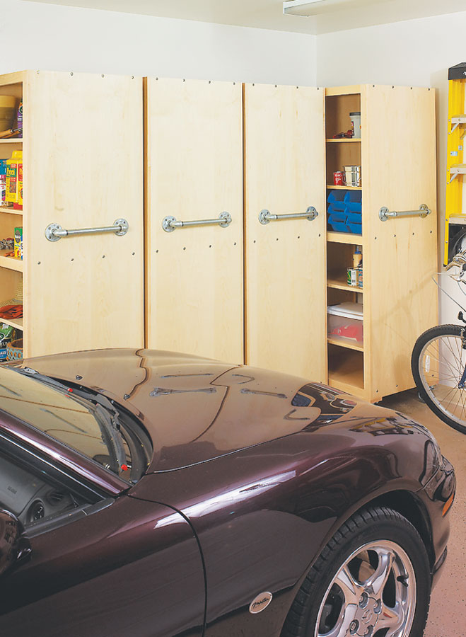 These space-efficient garage organizers make your stored items easily accessible while still leaving plenty of room to park your car.