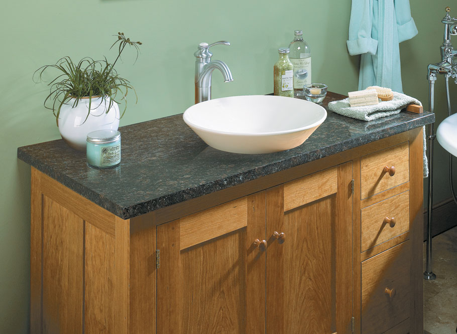 Upgrade your bathroom with this vanity inspired by traditional Shaker design.