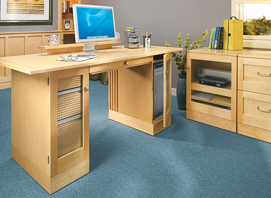 Your home office will be efficient, organized, and look great with this desk and storage cabinets.