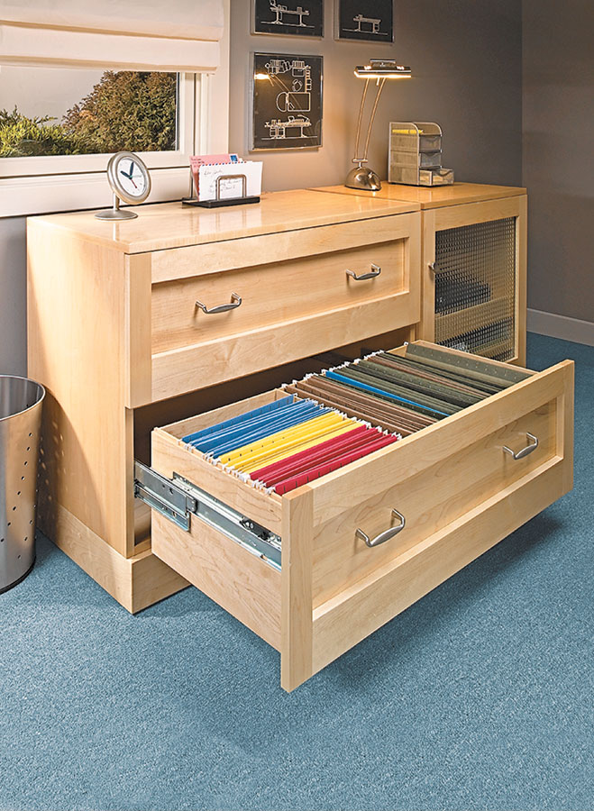 This file cabinet features more than enough space for all your storage needs. Its long, deep drawers can hold dozens of hanging files.