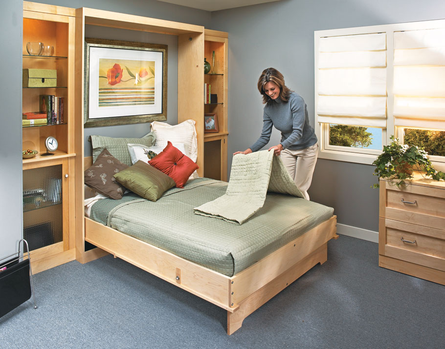 This easy-to-operate Murphy bed lets you convert any room into a guest bedroom — and back again — in minutes.
