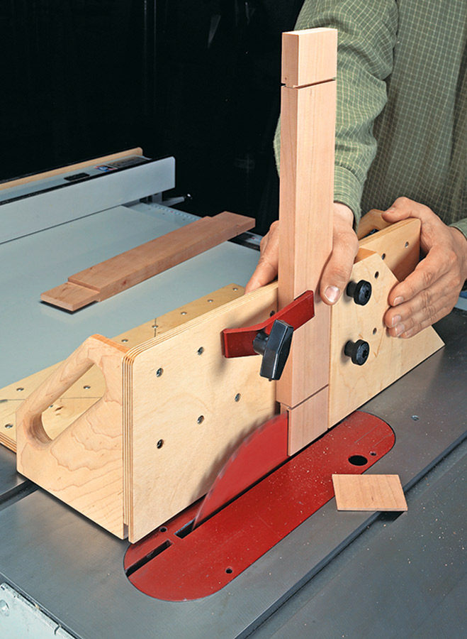 Make incredibly accurate crosscuts and miters, and even cut tenons with ease, all using this precision shop-built system.