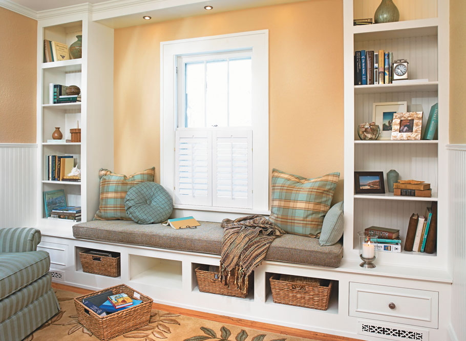 Open a new chapter in the story of your home with this stylish built-in window seat and bookcase in a just couple of weekends.