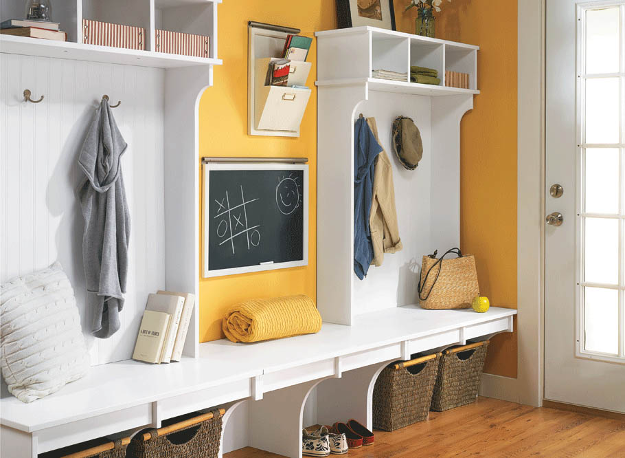 Storage is always needed, everywhere in the home. Entryways are no different. Add more storage space with this storage locker.
