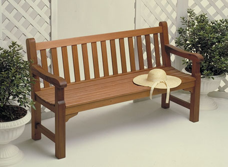 The classic design of this English bench makes it a beautiful piece to accent your garden or deck. And this bench is as strong as it is attractive.