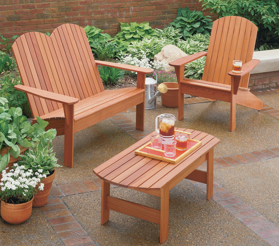 The design of this Adirondack furniture has straightforward joinery and construction, so you'll be able to sit back and relax in no time.