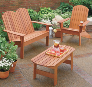 Adirondack Chair and Settee