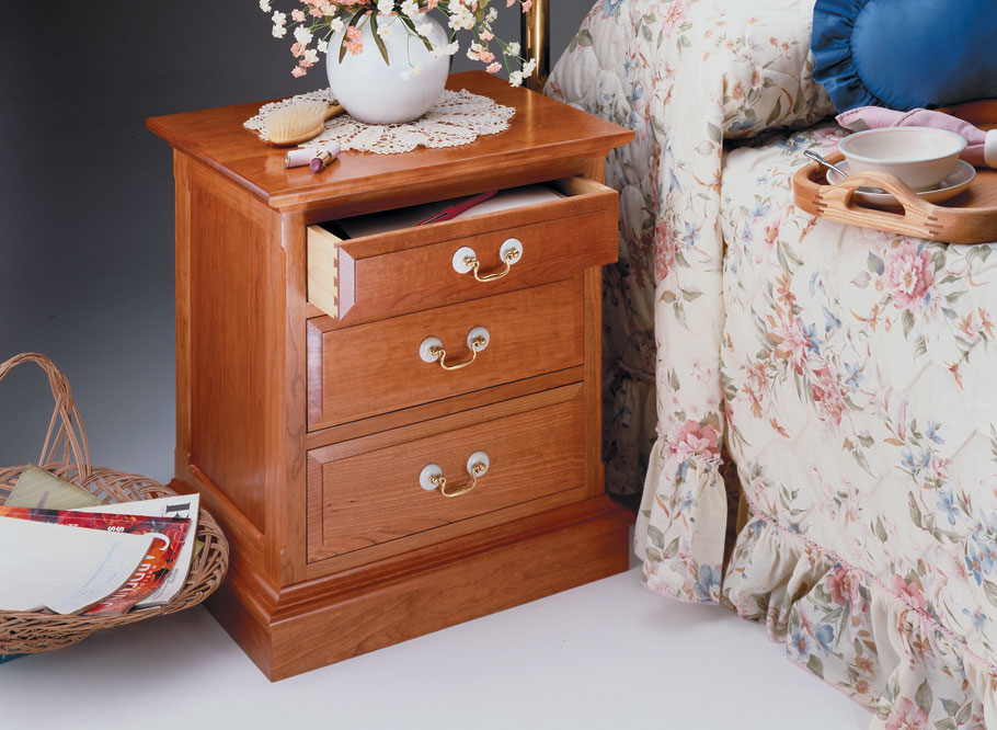 This classic cherry cabinet is built with traditional joinery. It's an heirloom project that looks as good alongside a sofa as it does next to a bed.