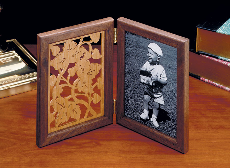 With a scroll saw and a few extra hours, you can turn a plain frame into this elegant one.