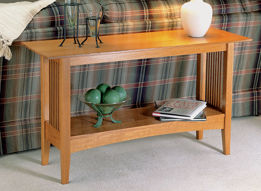 Oak Sofa Table | Woodworking Project | Woodsmith Plans