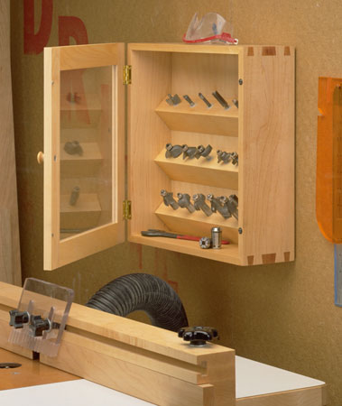 Dovetailed Router Bit Cabinet