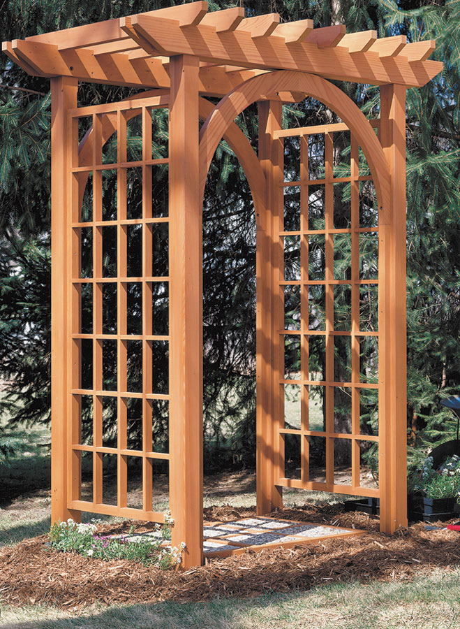Garden Arbor Woodworking Project Woodsmith Plans