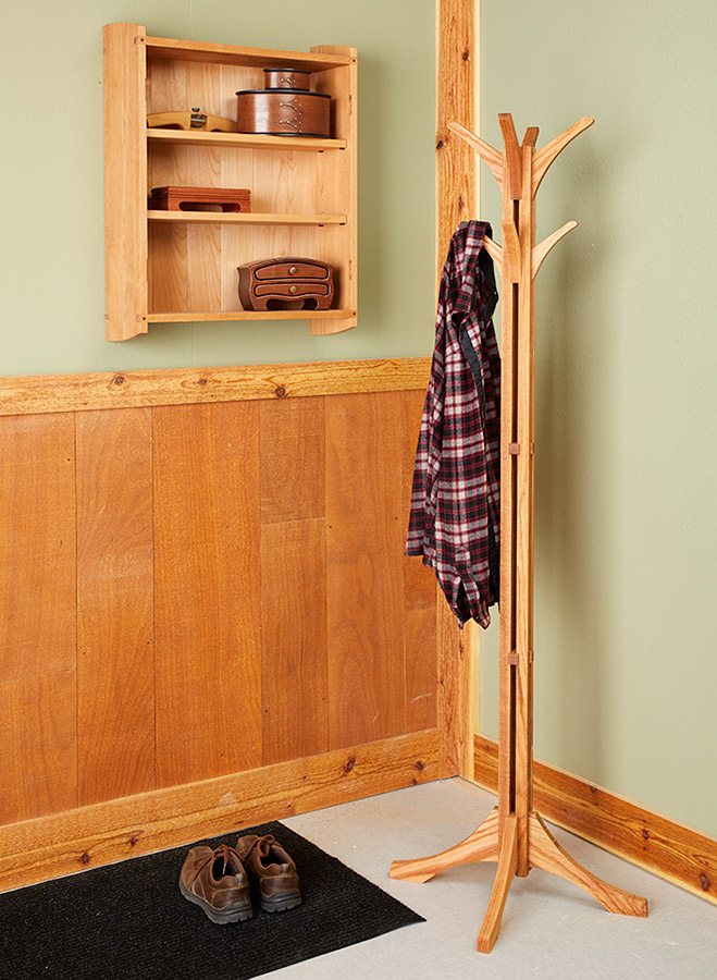 Home is where you hang your hat. And this hall tree makes a great home for your hat (and your coat). Plus the interlocking design will keep your guests wondering how it was put together.