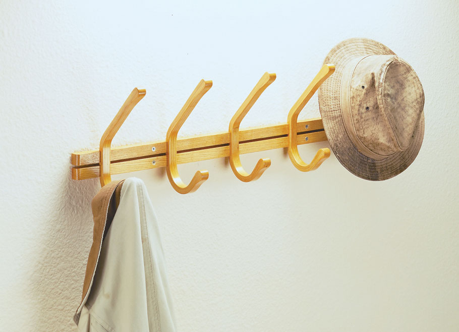 Start with a shop-made form and some thin strips. Then add glue and clamps. The result is a simple project that's a great place to hang your hat.