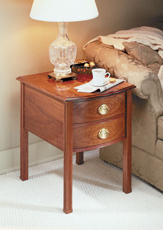 Bow-Front End Table